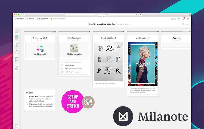 Screenshot of Collaborating with Milanote